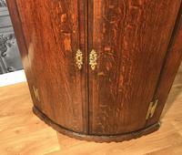 Good Georgian Oak Bow Front Corner Cupboard (3 of 8)