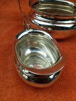 Art Deco Silver Plate EPNS Cream Jug & Sugar Bowl c.1930 (2 of 12)