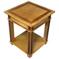 Art Deco Style 20th Century French Blonde Wood Side Table