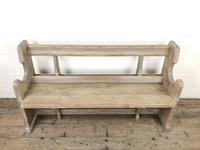 Antique Pine Chapel Pew Bench (3 of 9)