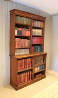 Solid Oak Open Cabinet Bookcase (7 of 11)
