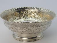 Victorian Silver Sugar Bowl & Tongs (4 of 8)