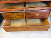 Magnificent 18th Century English Linen Press with Marquetry Urns c.1790 (20 of 20)