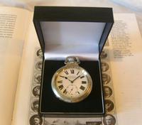 Antique Pocket Watch 1920s Winegartens 7 Jewel Railway Regulator Silver Nickel Case FWO (12 of 12)