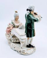 Dresden Germany Porcelain Figurine Musicians Playing Piano & Flute (5 of 9)