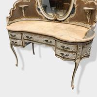 Italian Paint and Cane Dressing Table (5 of 8)