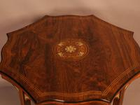 Fine Quality Rosewood Occasional Table c.1890 (3 of 6)