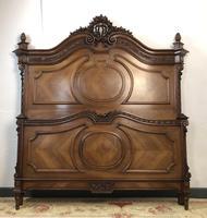 Antique French Stunning Huge Oak Bed Frame & Pot Cupboard (7 of 16)