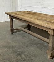 Rare Large & Deep Oak Farmhouse Dining Table (6 of 31)