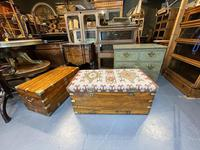 19th Century Campaign Camphor Chest Seat (12 of 13)