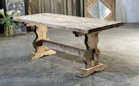 French Bleached Refectory Farmhouse Dining Table (3 of 21)