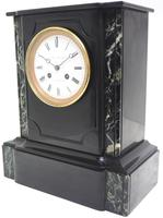 Antique French Slate Mantel Clock Wow! Striking 8-day c.1890 (4 of 11)