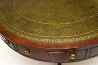 Antique  Regency  Style Mahogany & Leather Drum Table (4 of 10)