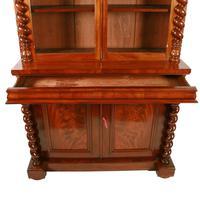 Fine Victorian Mahogany Cabinet Bookcase (7 of 8)
