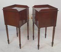 Pair of 20th Century Mahogany Bedside Tables (2 of 3)
