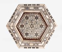 Hexagonal Bone & Hardwood Centre Table (4 of 5)