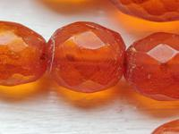 Antique Graduated Faceted Amber Beads Necklace 26 gr for Spare or re Stringing (8 of 11)