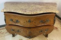 French Chest of Drawers Bombe Commode with Marble Top (11 of 12)