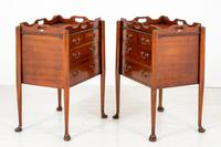 Pair of  Mahogany Queen Anne Style Bedside Cabinets (5 of 12)