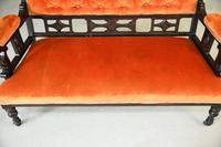 Victorian Upholstered Small Sofa (5 of 6)