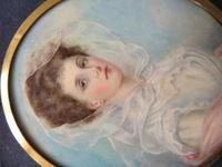 Wedding Day Miniature Portrait Edwardian Bride 1910 (2 of 5)