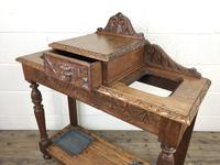 Antique Victorian Carved Oak Hall Stand (11 of 14)