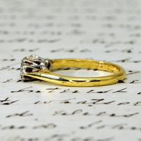 The Vintage 1975 Three Brilliant Cut Diamond Ring (3 of 5)