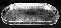Large  Chased Silver Plated Two Handle Gallery Tray (3 of 7)