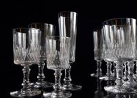 Baccarat Crystal 29 piece Cylindrique suite Richelieu pattern c1916 (5 of 5)