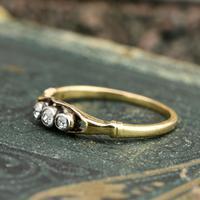The Antique Three Diamond Bezel Set Ring (5 of 6)
