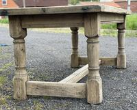 Rustic Bleached Oak French Farmhouse Dining Table (18 of 34)