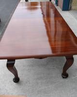 1920s Quality Mahogany Wind Out Dining Table + 3 Leaves on Cab Legs (2 of 3)