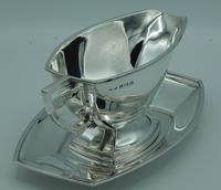 Sterling Silver Art Deco Gravy  Sauce Boat & Tray (3 of 10)