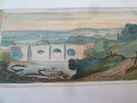 "Rowland Wright Alston Watercolour "" Ludlow Bridge "" 1927 - Slade School (4 of 4)"