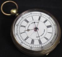 Antique Chronograph Pocket Watch Sweeping Stop Start Seconds Hand Swiss Made Key Wind. (3 of 8)
