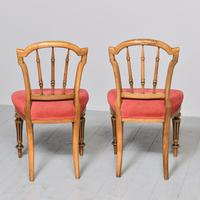 Pair of Victorian Walnut & Ebonized Side Chairs (3 of 9)