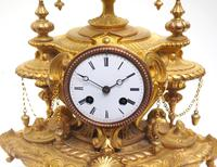 Wow! Incredible French Gilt Metal Mantel Clock Striking 8-Day Mantle Clock (3 of 10)