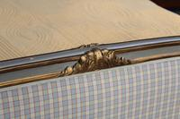 Lovely Gilded French Empire Upholstered King Size Bed (5 of 7)