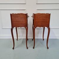 French Oak Bedside Tables c.1930 (4 of 5)