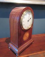 Antique Sheraton Inlaid 8 Day Mantel Clock (4 of 7)