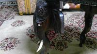 Antique Indian Carved Teak Elephant Table (4 of 6)