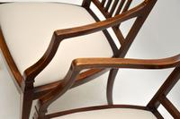 Pair of Antique Edwardian Inlaid  Mahogany Armchairs (10 of 12)