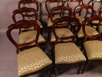Set of 12 Victorian Mahogany Balloon Back Dining Chairs (2 of 10)