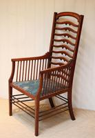 Arts And Crafts Mahogany Ladder Back Armchair (3 of 10)