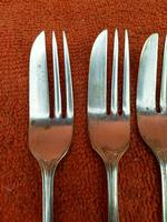 Silver Plate EPNS Cake Forks c.1930 (3 of 8)