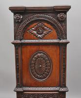 Near Pair of 19th Century Carved Oak Gothic Hall Chairs (7 of 12)