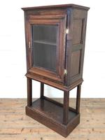Antique Oak Cupboard on Stand (9 of 13)