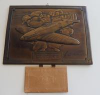 Bronzed Metal Calendar Signed Alex Henshaw MBE 1941 (6 of 13)