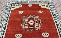 Antique Tibetan small carpet 229x121cm (3 of 6)
