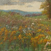 Early 20th Century German School Impressionistic Landscape with Cart (9 of 10)